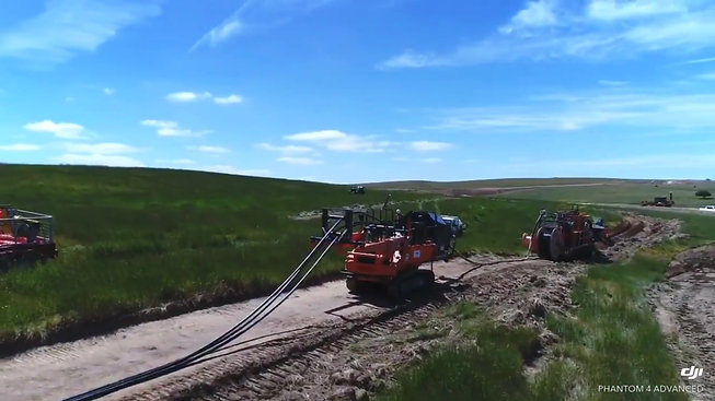 Marais Laying - Wind Farm MV cable installation - Crookwell II