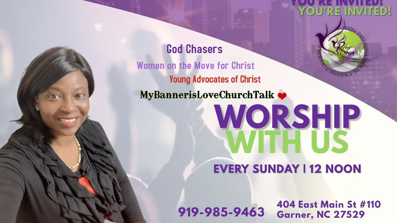 Sunday Worship Services at 12 noon