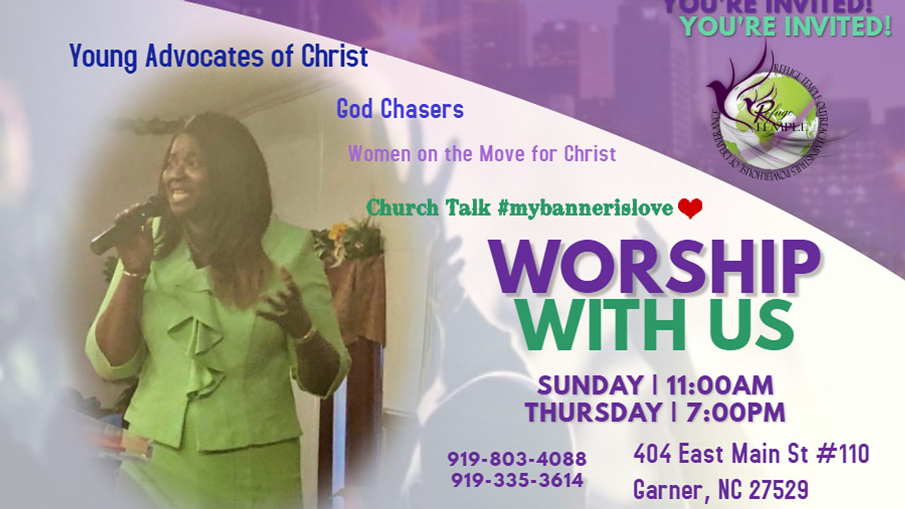 Sunday Worship Services at 12 noon