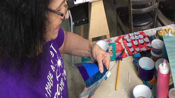Virtual Classroom-Duct Tape Art