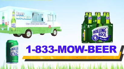 Rolling Rock - Beer Mowbile