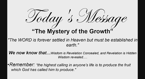 The Mystery of Growth