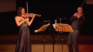"Bohuslav Martinu ""Three Madrigals"" for Violin and Viola 1/3"