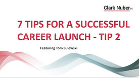 Career Launch - Tip 2