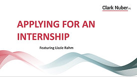 Applying for Internships