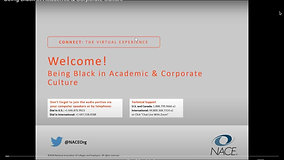 Webinar Panelist, Being Black in Academic and Corporate Culture
