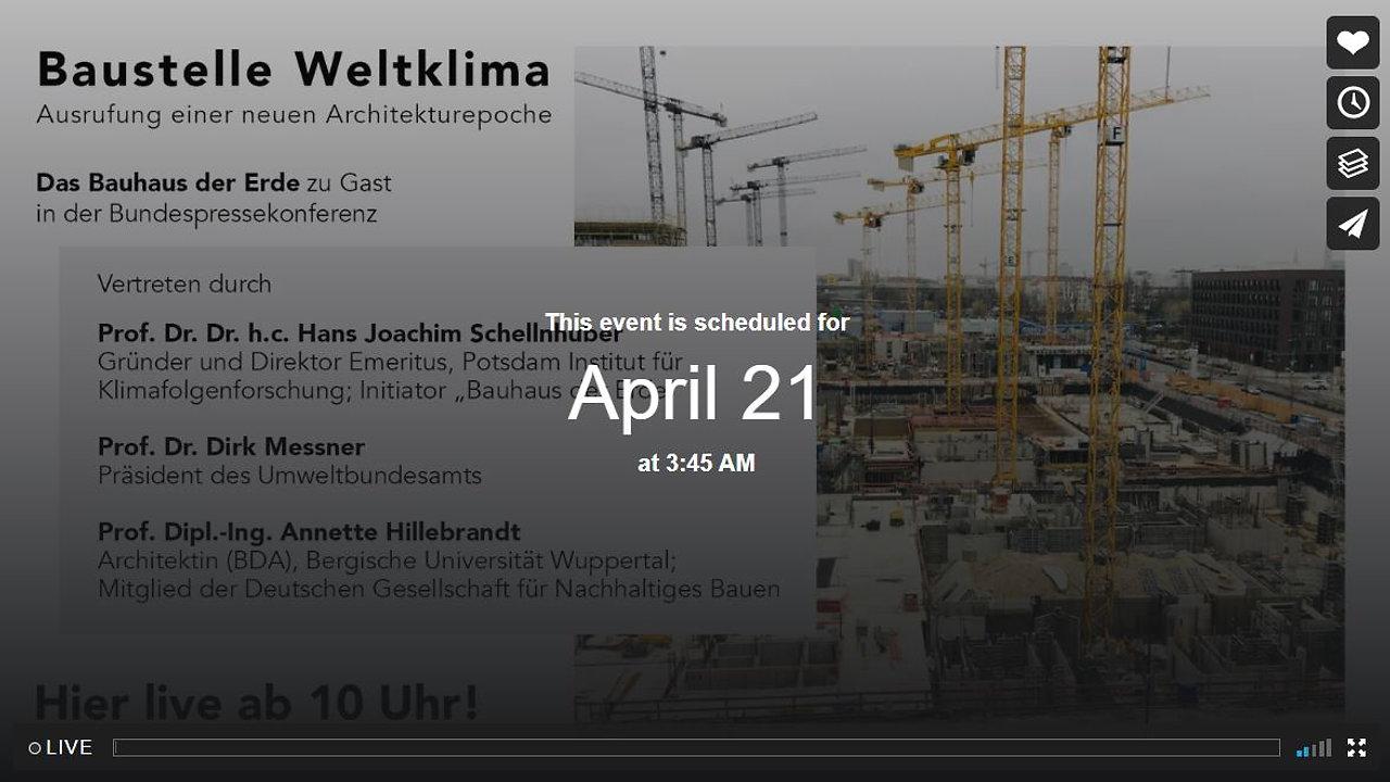 """Pressekonferenz """"Bauhaus der Erde"""""""