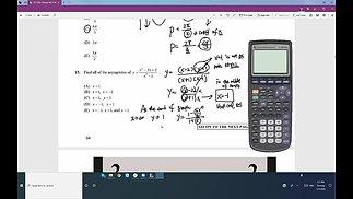 Dr. JC SAT II Math 2 test 1  #12-#20