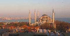 Suleymaniye Mosque Time Lapse Sunset