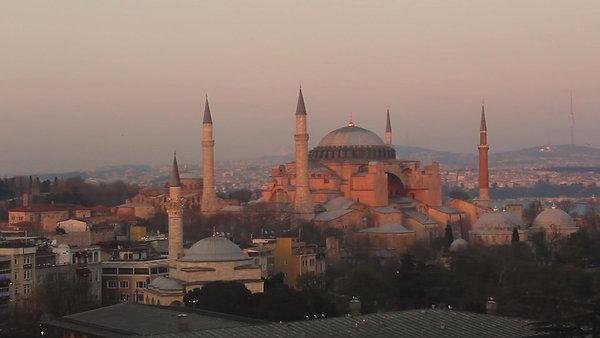 Hagia Sophia Time Lapse Sunset