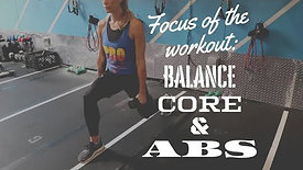 Focus Of The Workout: Balance, Core & Abs