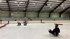 Sledge hockey scrimmage
