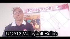 U12/13 Volleyball Rules