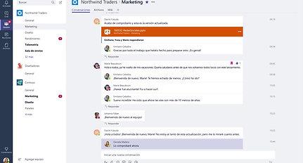 Conversaciones más productivas con Microsoft Teams