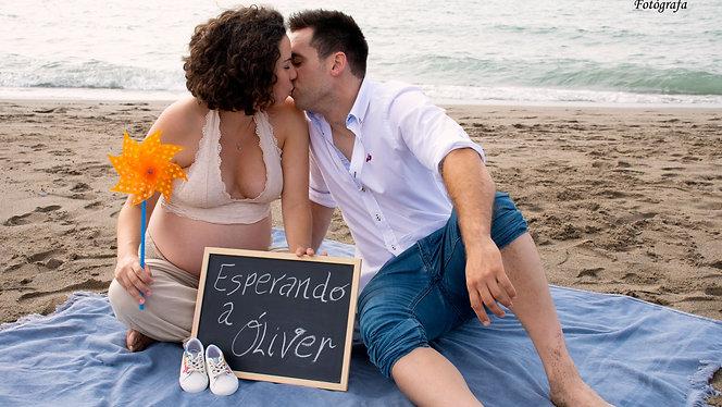Alicia y Paco, esperando a Óliver