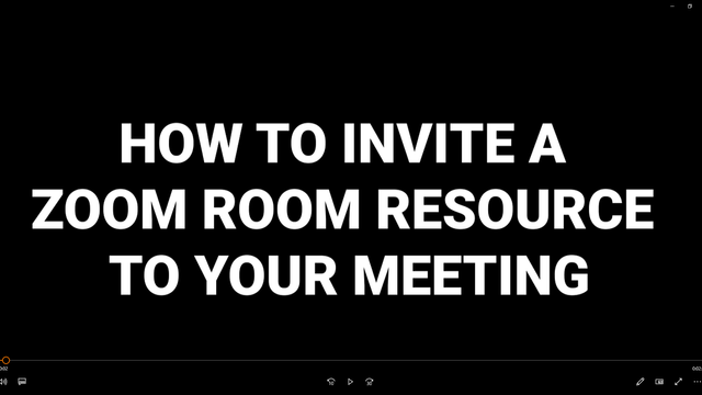 How To Book a Zoom Room Resource