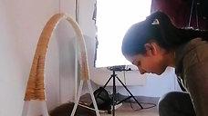 Création d'une arche pour séance photos bébé