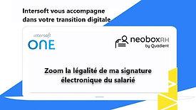 Neobox : Zoom sur signature électronique