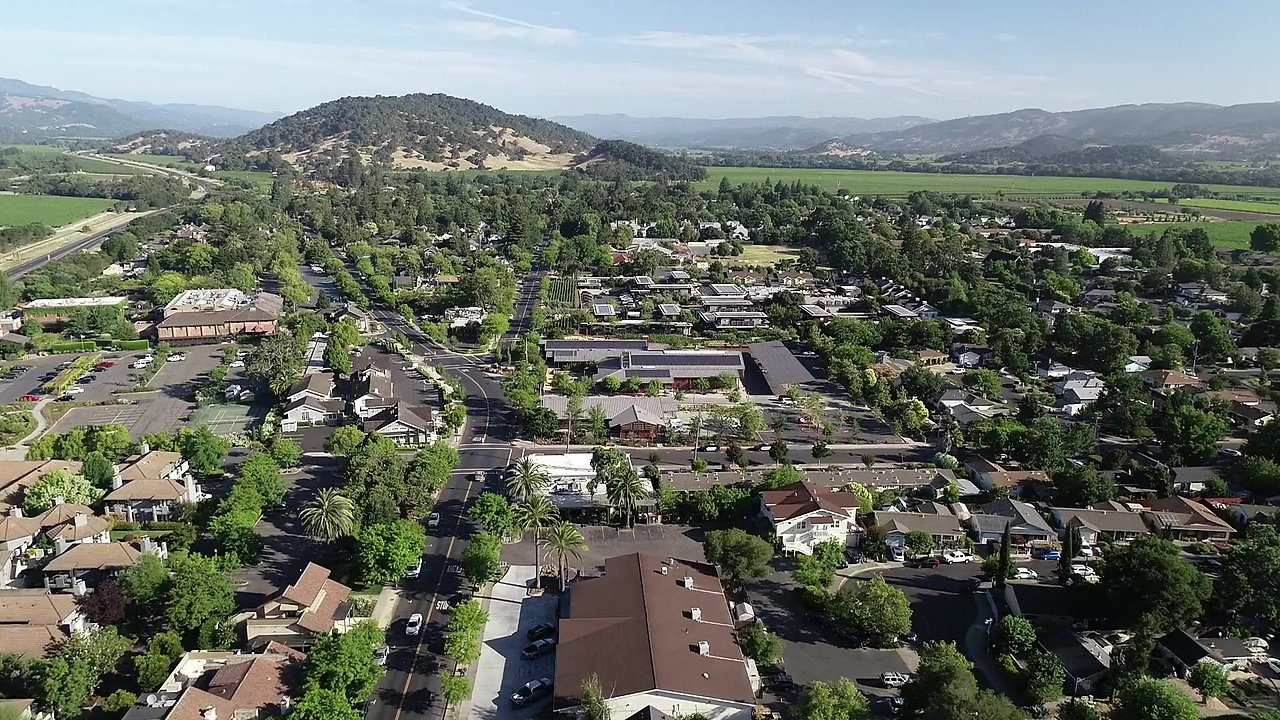 A View Above Yountville in Napa