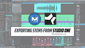 Exporting Stems from Studio One