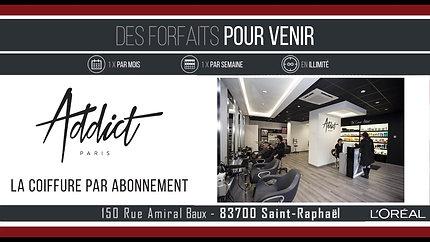 Publicité : Salon de coiffure Addict
