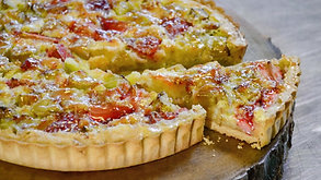 Pidy Strawberry Rhubarb Custard Pie
