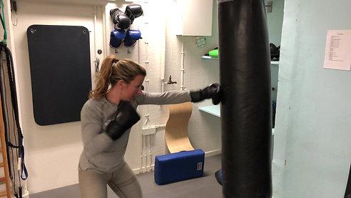 Boxningsträning med Sanna