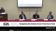 IDA Applying Data Analytics Forum: Private Sector Panel