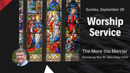 September 26 Worship Service