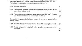 2018 IEB Physics Final Question 3