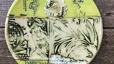 Art Nouveau Collage Plate