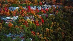 Drone Autumn Cabin