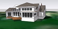 Home addition exterior study model