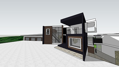 Modern Home Exterior Massing Model