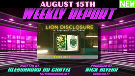 Weekly Report August 15th