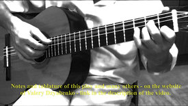№ 7   И.С.Бах.Менуэт.Переложение для гитары Валерия Дзябенко.