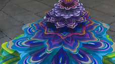 Live painting 3D Mandalas
