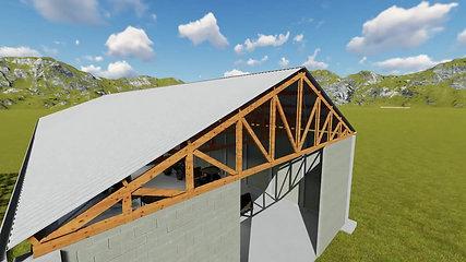 Galpão estrutura de madeira