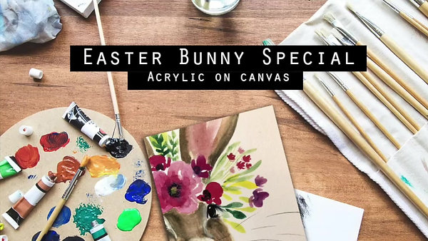 Easter Bunny - Acrylic Painting Class - HB