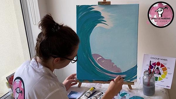 Ocean Girl - Acrylic Painting Class 3