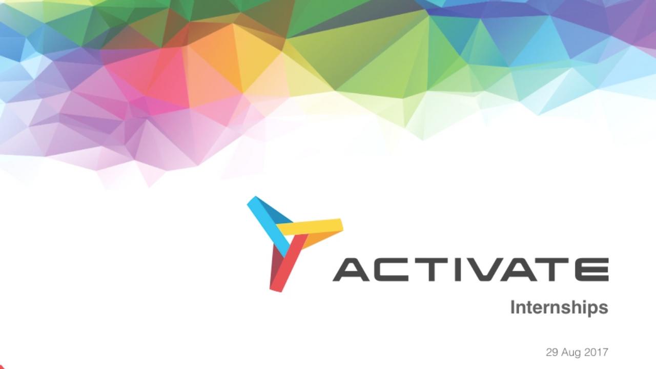 Activate Internship 2017