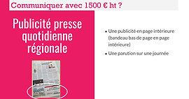 Communiquer avec 1500 € ht