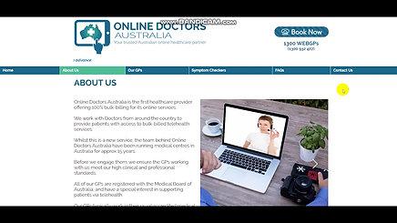 Online Doctors Australia Website Development