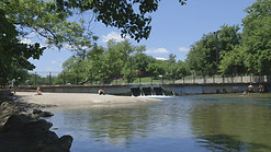 Austin Texas People Sunbathing by River by Calibrate Films