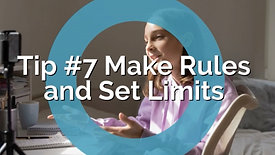Teens and Social Media-Parenting Tip #7 Make Rules and Set Limits