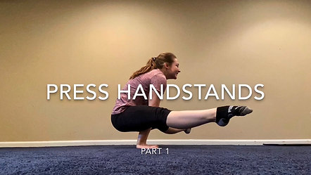 Press Hand Stands-  Part 1