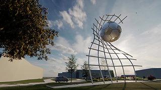 Football Sculpture - Goal