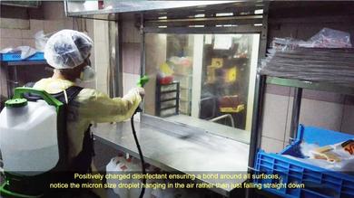 Disinfecting @ Food Preparation Area