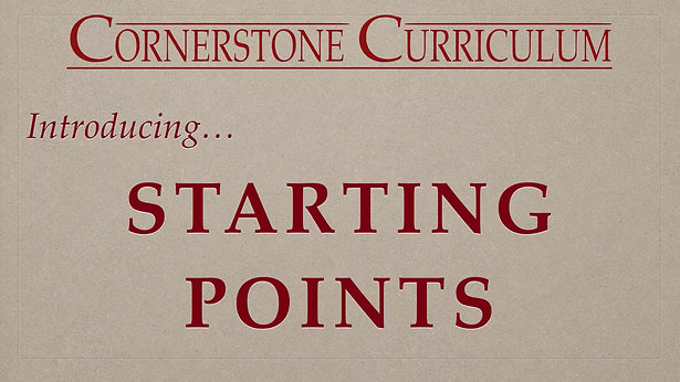 Starting Points Introduction