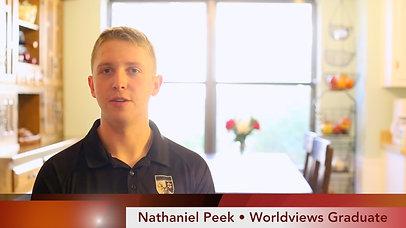 Worldviews Graduate: Nathaniel Peek